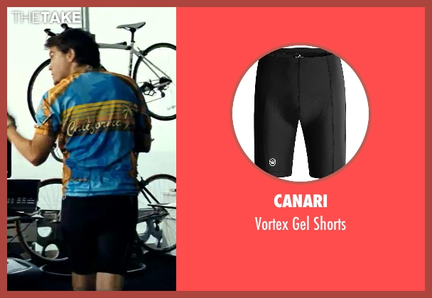 Canari black shorts from Savages seen with Emile Hirsch (Spin)