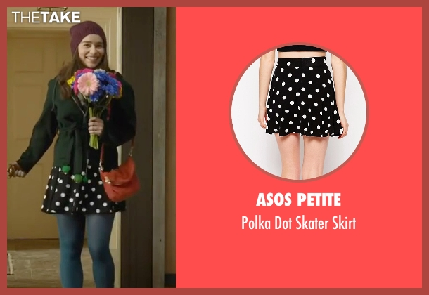 Asos Petite black skirt from Me Before You seen with Emilia Clarke (Lou Clark)