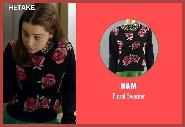 H&M black sweater from Me Before You seen with Emilia Clarke (Lou Clark)