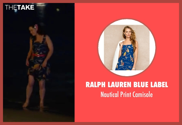Ralph Lauren Blue Label blue camisole from Me Before You seen with Emilia Clarke (Lou Clark)