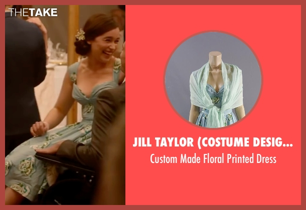 Jill Taylor (Costume Designer)  blue dress from Me Before You seen with Emilia Clarke (Lou Clark)