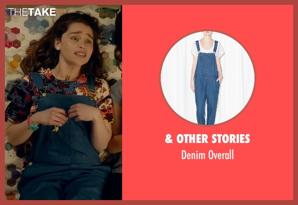 & Other Stories blue overall from Me Before You seen with Emilia Clarke (Lou Clark)