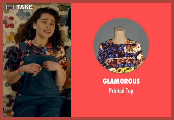Glamorous blue top from Me Before You seen with Emilia Clarke (Lou Clark)