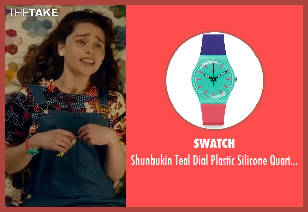 Swatch  blue watch from Me Before You seen with Emilia Clarke (Lou Clark)