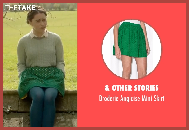 & Other Stories green skirt from Me Before You seen with Emilia Clarke (Lou Clark)