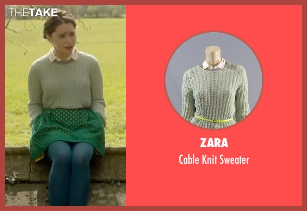 Zara green sweater from Me Before You seen with Emilia Clarke (Lou Clark)