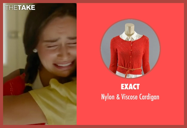 Exact orange cardigan from Me Before You seen with Emilia Clarke (Lou Clark)