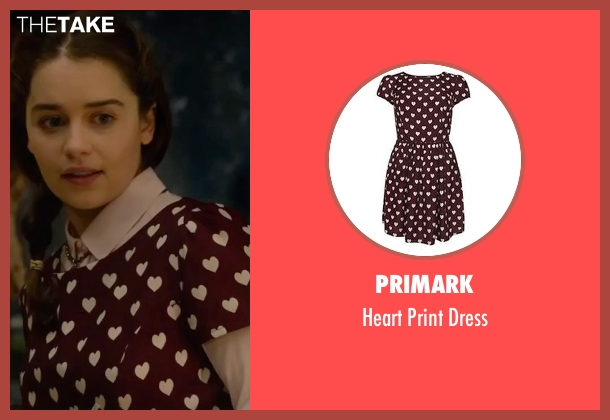 Primark red dress from Me Before You seen with Emilia Clarke (Lou Clark)