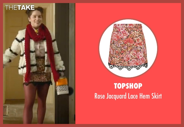 Topshop red skirt from Me Before You seen with Emilia Clarke (Lou Clark)