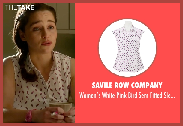 Savile Row Company white shirt from Me Before You seen with Emilia Clarke (Lou Clark)