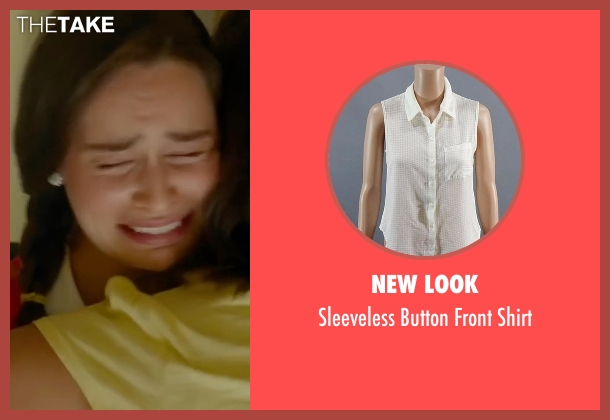 New Look  white shirt from Me Before You seen with Emilia Clarke (Lou Clark)