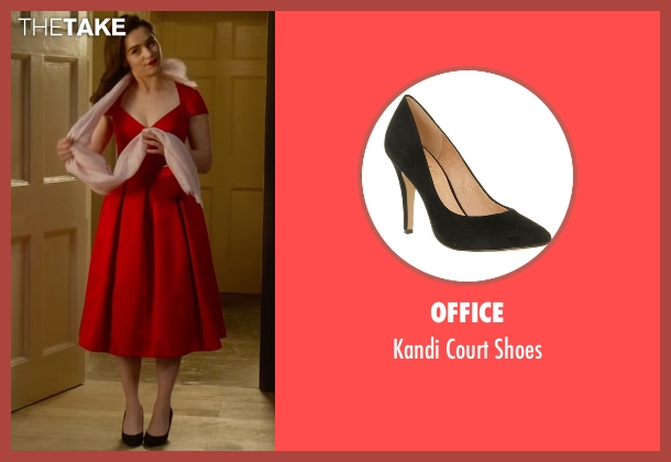 Office black shoes from Me Before You seen with Emilia Clarke (Lou Clark)