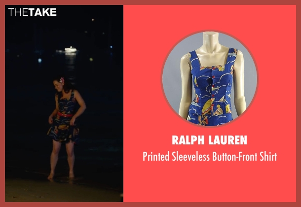 Ralph Lauren blue shirt from Me Before You seen with Emilia Clarke (Lou Clark)