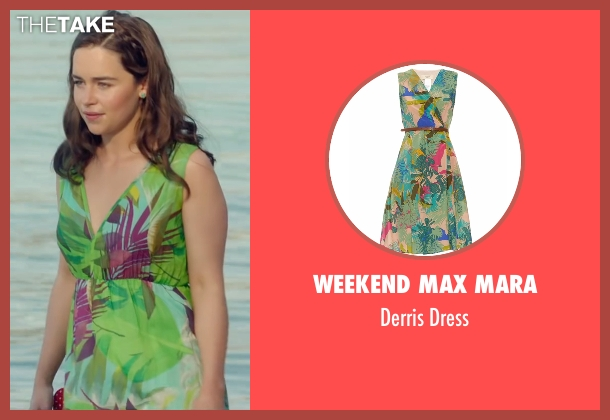 Weekend Max Mara green dress from Me Before You seen with Emilia Clarke (Lou Clark)