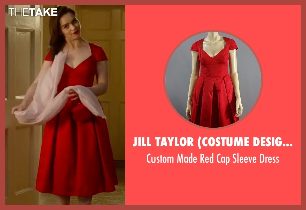 Jill Taylor (Costume Designer) red dress from Me Before You seen with Emilia Clarke (Lou Clark)