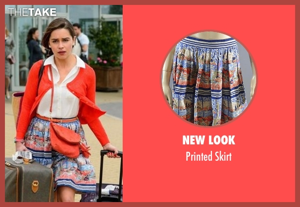 New Look skirt from Me Before You seen with Emilia Clarke (Lou Clark)