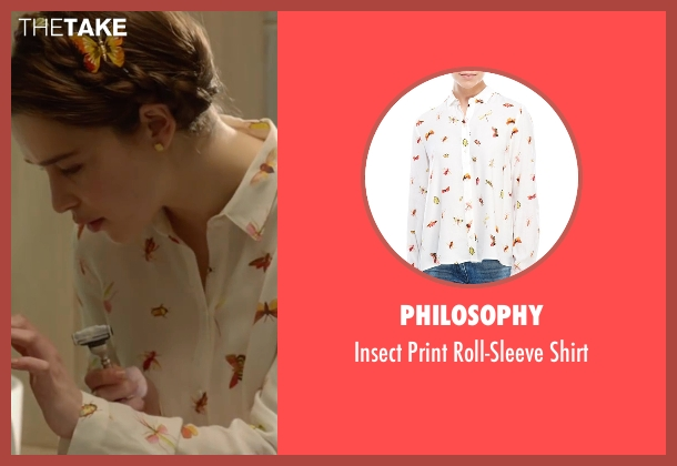 Philosophy white shirt from Me Before You seen with Emilia Clarke (Lou Clark)