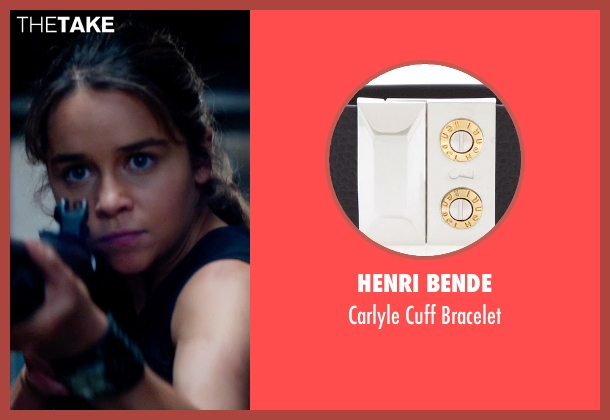 Henri Bende black bracelet from Terminator: Genisys seen with Emilia Clarke (Sarah Connor)