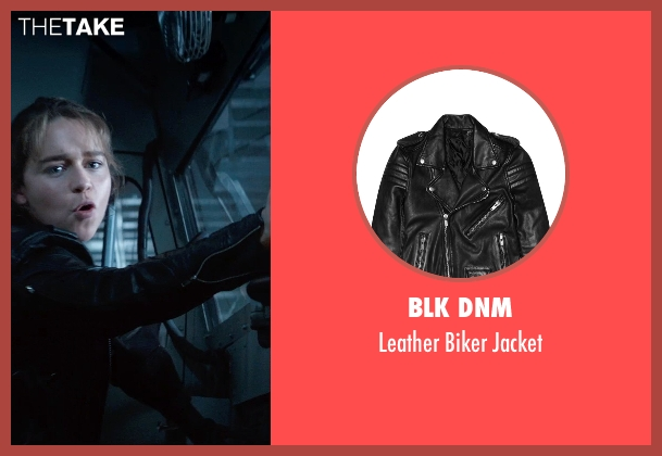 BLK DNM black jacket from Terminator: Genisys seen with Emilia Clarke (Sarah Connor)