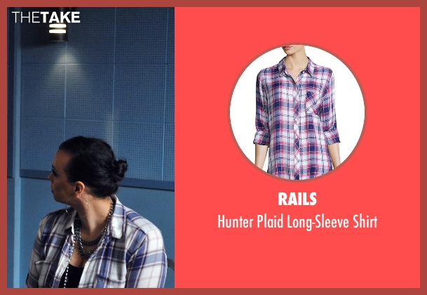 "Rails white shirt from Rosewood seen with Emilia ""Double Tap"" Martinez (Aline Elasmar)"