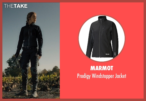Marmot black jacket from Edge of Tomorrow seen with Emily Blunt (Rita Vrataski)