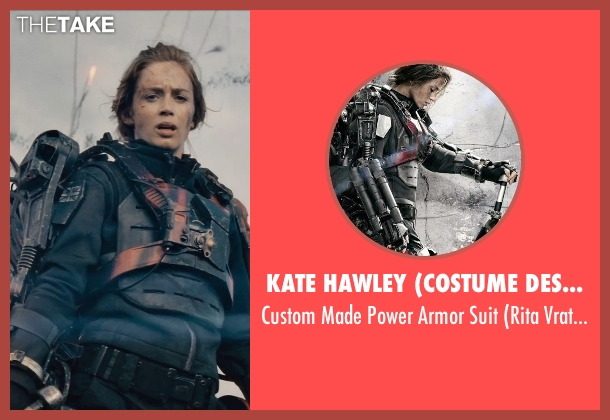 Kate Hawley (Costume Designer) suit from Edge of Tomorrow seen with Emily Blunt (Rita Vrataski)