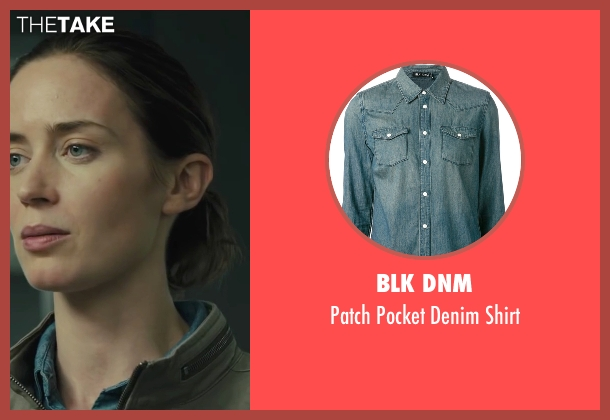 Blk Dnm blue shirt from Sicario seen with Emily Blunt (Kate Macer)