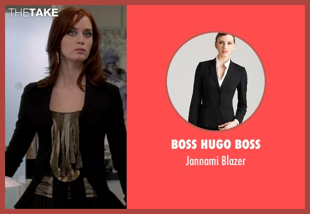 Boss Hugo Boss black blazer from The Devil Wears Prada seen with Emily Blunt (Emily Hobbs)