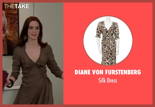 Diane von Furstenberg brown dress from The Devil Wears Prada seen with Emily Blunt (Emily Hobbs)