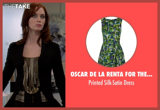 Oscar De La Renta For The Outnet green dress from The Devil Wears Prada seen with Emily Blunt (Emily Hobbs)
