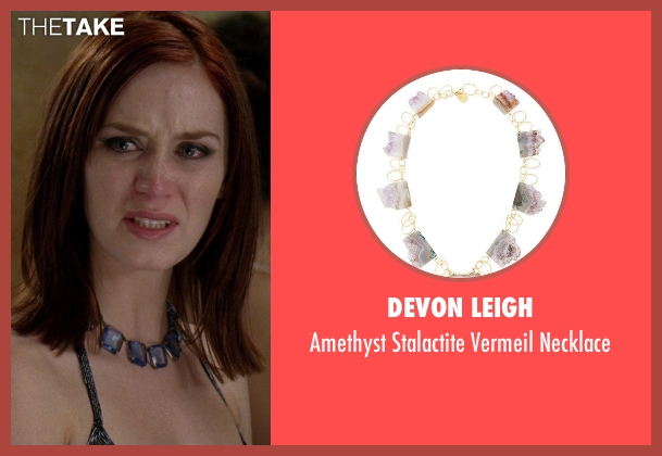 Devon Leigh	 purple necklace from The Devil Wears Prada seen with Emily Blunt (Emily Hobbs)