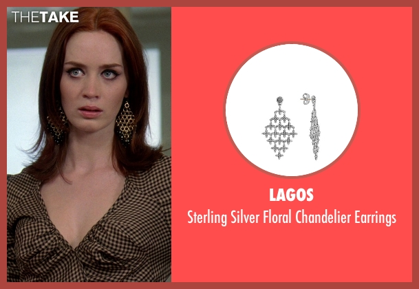 Lagos silver earrings from The Devil Wears Prada seen with Emily Blunt (Emily Hobbs)