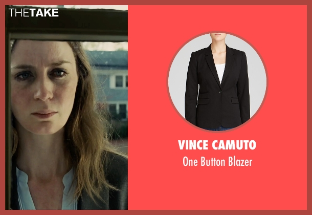 Vince Camuto black blazer from The Girl on the Train seen with Emily Blunt (Rachel Watson)