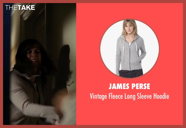 James Perse gray hoodie from The Girl on the Train seen with Emily Blunt (Rachel Watson)