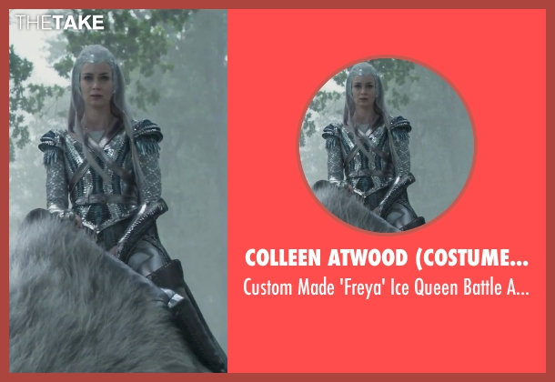 Colleen Atwood (Costume Designer) armor from The Huntsman: Winter's War seen with Emily Blunt (Freya)
