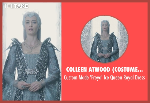 Colleen Atwood (Costume Designer) dress from The Huntsman: Winter's War seen with Emily Blunt (Freya)