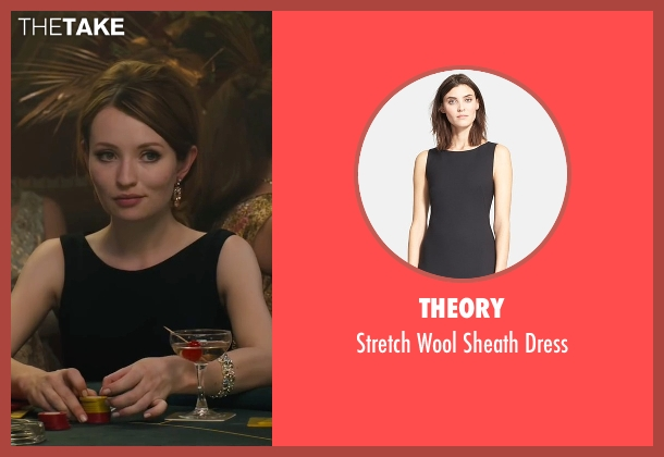 Theory black dress from Legend seen with Emily Browning (Frances Shea)