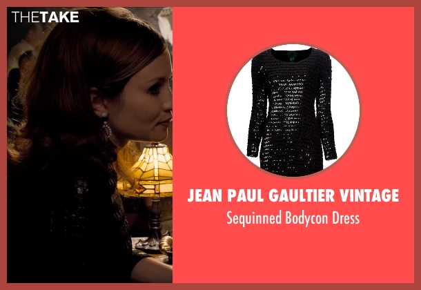 Jean Paul Gaultier Vintage black dress from Legend seen with Emily Browning (Frances Shea)