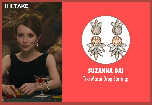 Suzanna Dai earrings from Legend seen with Emily Browning (Frances Shea)
