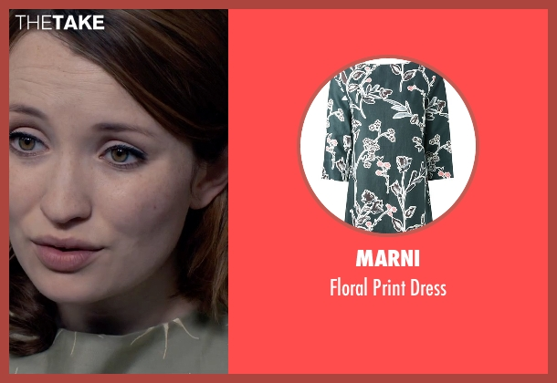 Marni green dress from Legend seen with Emily Browning (Frances Shea)