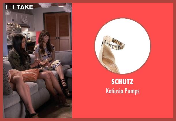 Schutz beige pumps from Pretty Little Liars seen with Emily Fields (Shay Mitchell)