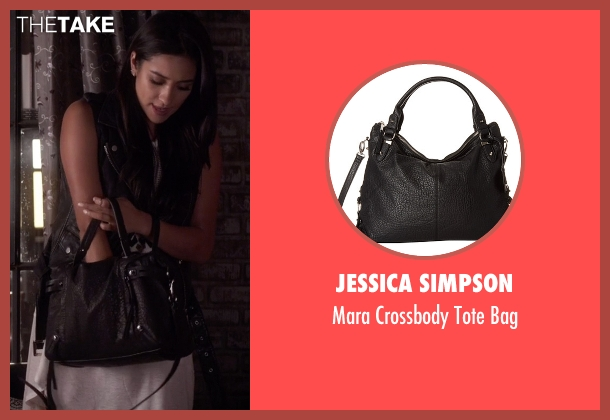 Jessica Simpson  black bag from Pretty Little Liars seen with Emily Fields (Shay Mitchell)