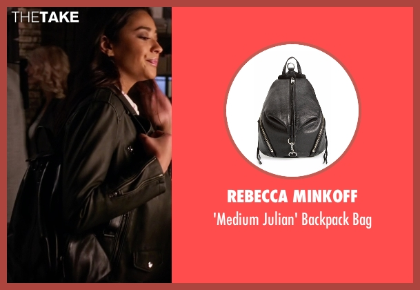 Rebecca Minkoff black bag from Pretty Little Liars seen with Emily Fields (Shay Mitchell)