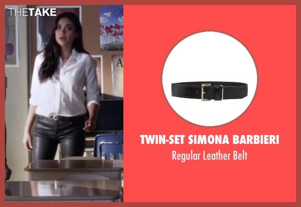 Twin-Set Simona Barbieri black belt from Pretty Little Liars seen with Emily Fields (Shay Mitchell)