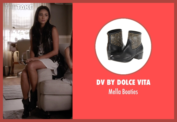 DV By Dolce Vita black booties from Pretty Little Liars seen with Emily Fields (Shay Mitchell)