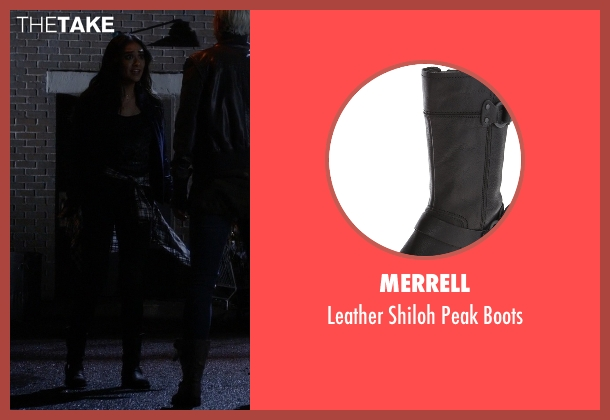Merrell black boots from Pretty Little Liars seen with Emily Fields (Shay Mitchell)