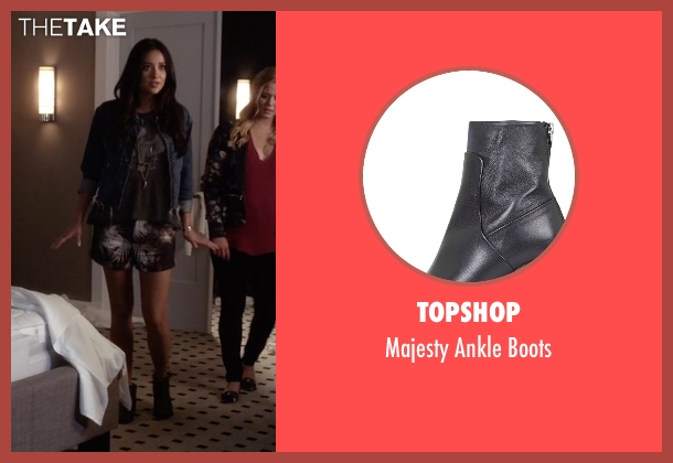 Topshop black boots from Pretty Little Liars seen with Emily Fields (Shay Mitchell)