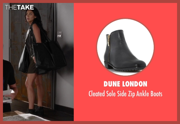 Dune London black boots from Pretty Little Liars seen with Emily Fields (Shay Mitchell)