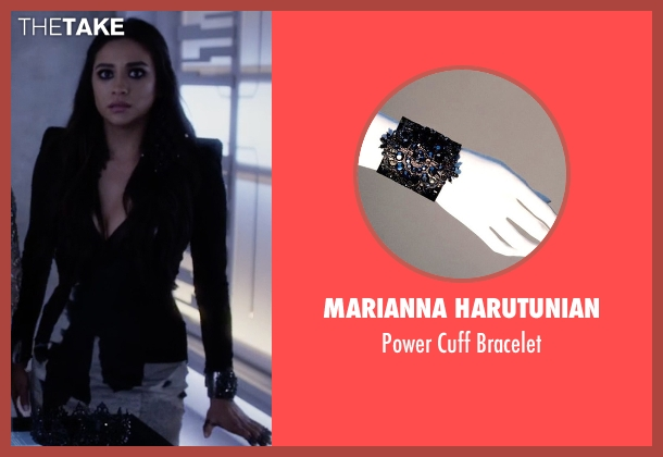 Marianna Harutunian black bracelet from Pretty Little Liars seen with Emily Fields (Shay Mitchell)