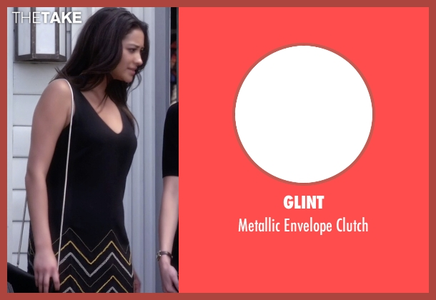 Glint black clutch from Pretty Little Liars seen with Emily Fields (Shay Mitchell)